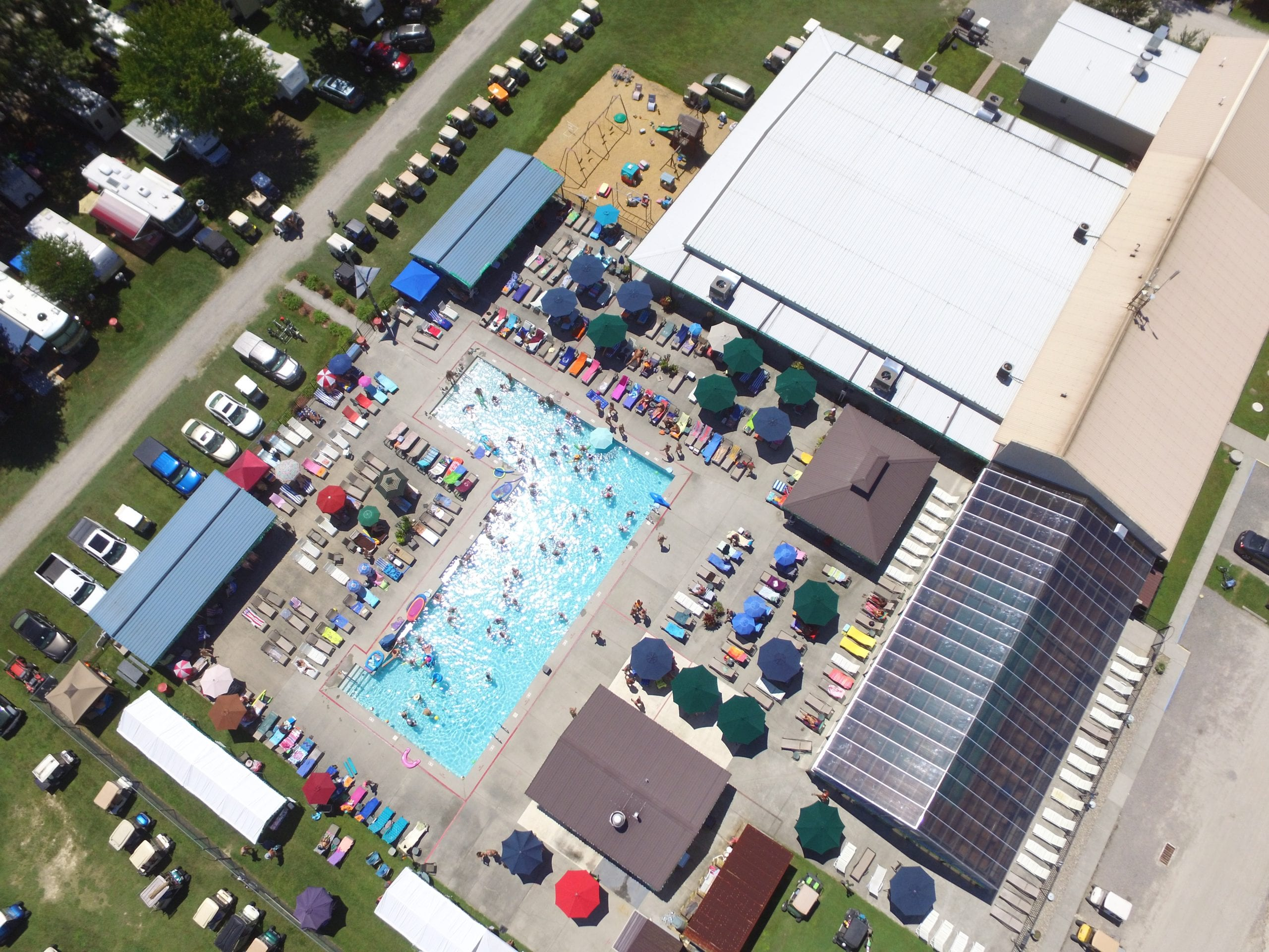 Overhead view of Pool Complex
